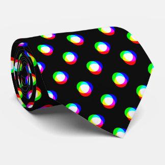 Crazy Polka Dots Custom Black Background Tie