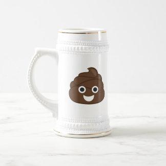 Crazy Poop Emoji Beer Stein
