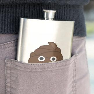 Crazy Poop Emoji Hip Flask