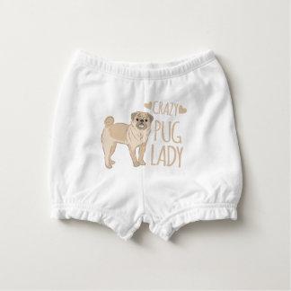 crazy pug lady diaper cover