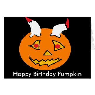 crazy pumpkin card