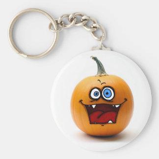 crazy pumpkin basic round button keychain