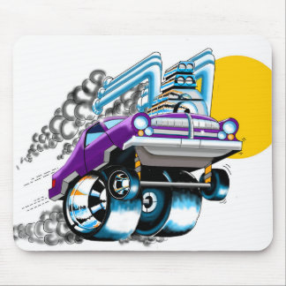 Crazy Purple Hot Rod Mousepad