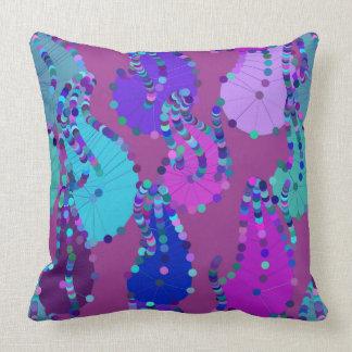 Crazy Purple Paisley Pillow