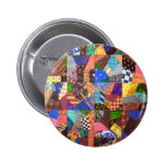 Crazy Quilt Patchwork Quilt Abstract Art Geometric Pins