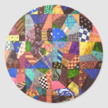 Crazy Quilt Patchwork Quilt Abstract Art Geometric Stickers