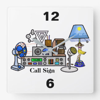 Crazy Radio Rig Wall Clock with Call Sign