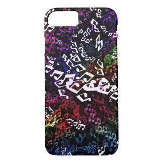 Crazy Rainbow Music Notes iPhone 7 Case