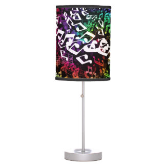Crazy Rainbow Music Notes Table Lamp
