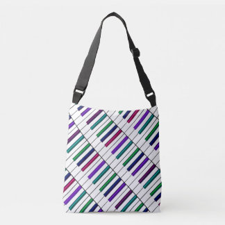 Crazy Rainbow Piano Keyboard Music Tote Bag