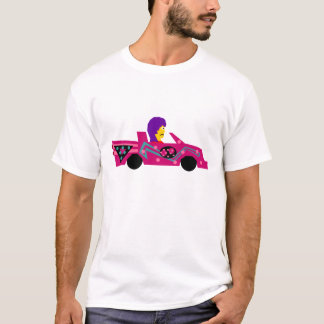 Crazy Red Car Frown T-Shirt