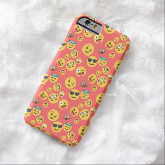 Crazy Red Emoji Pattern Barely There iPhone 6 Case