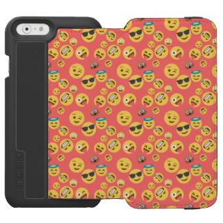 Crazy Red Emoji Pattern Incipio Watson™ iPhone 6 Wallet Case