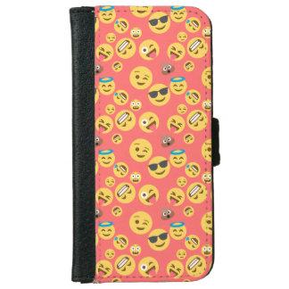 Crazy Red Emoji Pattern iPhone 6 Wallet Case