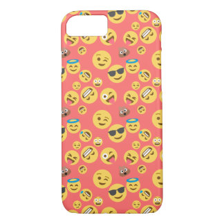 Crazy Red Emoji Pattern iPhone 8/7 Case