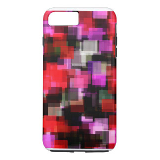 Crazy Red & Pink Pixel Madness!! iPhone 7 Plus Case