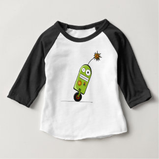 Crazy robot on wheels t-shirt