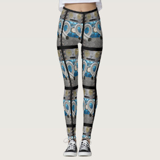 Crazy Robot Sci Fi Futuristic Laggings Leggings