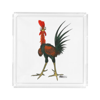 Crazy Rooster Acrylic Tray