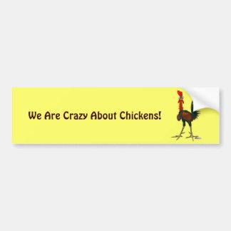 Crazy Rooster Bumper Sticker