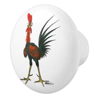 Crazy Rooster Ceramic Knob