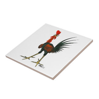 Crazy Rooster Ceramic Tiles