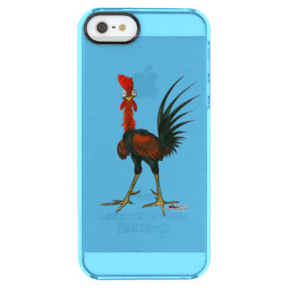Crazy Rooster Clear iPhone SE/5/5s Case
