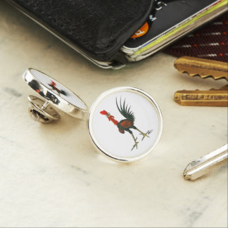 Crazy Rooster Lapel Pin