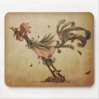 Crazy Rooster Mouse Pad