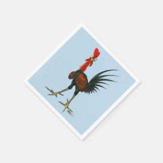 Crazy Rooster Napkin