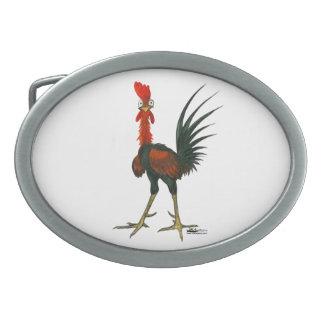 Crazy Rooster Oval Belt Buckles