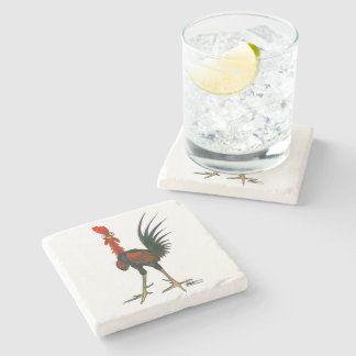 Crazy Rooster Stone Coaster