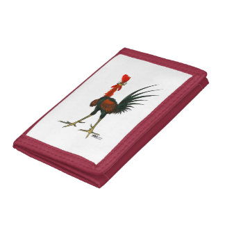 Crazy Rooster Tri-fold Wallets