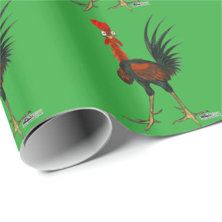 Crazy Rooster Wrapping Paper