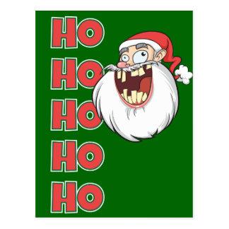 Crazy Santa Claus Laughing Postcard