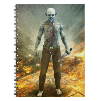 Crazy Scary Monster Apocalyptic Scene Spiral Note Book