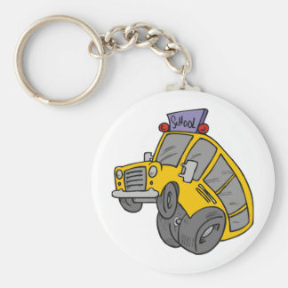 Crazy School Bus Keychain