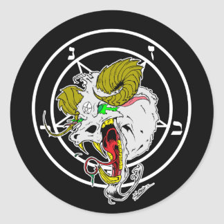 Crazy Sigil of Baphomet Classic Round Sticker