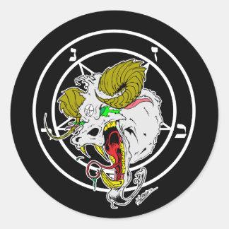 Crazy Sigil of Baphomet Round Sticker