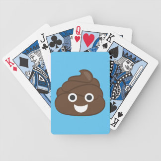Crazy Silly Brown Poop Emoji Bicycle Playing Cards