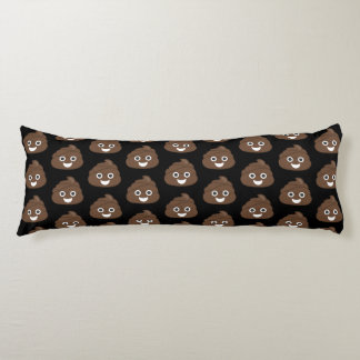 Crazy Silly Brown Poop Emoji Body Pillow