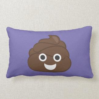 Crazy Silly Brown Poop Emoji Lumbar Pillow