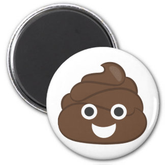 Crazy Silly Brown Poop Emoji Magnet
