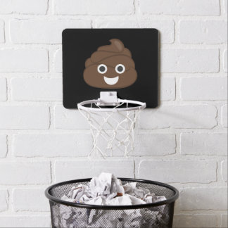 Crazy Silly Brown Poop Emoji Mini Basketball Hoop