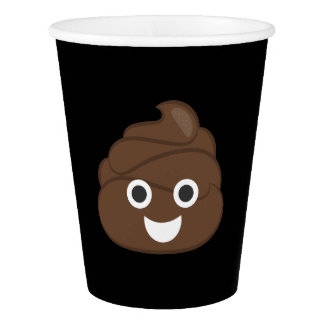 Crazy Silly Brown Poop Emoji Paper Cup