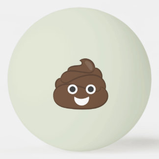 Crazy Silly Brown Poop Emoji Ping Pong Ball