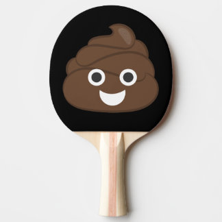 Crazy Silly Brown Poop Emoji Ping Pong Paddle