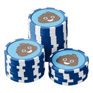 Crazy Silly Brown Poop Emoji Poker Chips