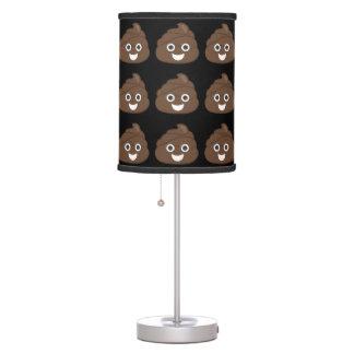 Crazy Silly Brown Poop Emoji Table Lamp