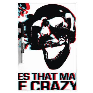 Crazy Skull Dry-Erase Whiteboards